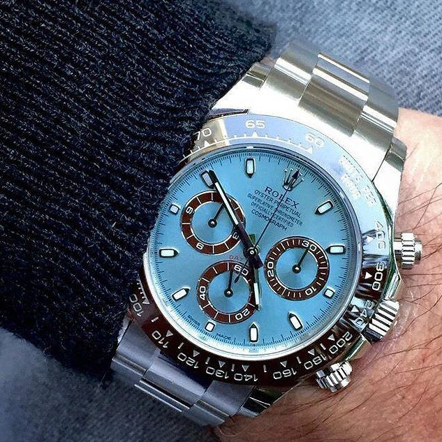 Very Cool Blue Dial Rolex Cosmograph Daytona Watch  #rolex #rolexcosmograph #rolexdaytona #luxurywatches #watches