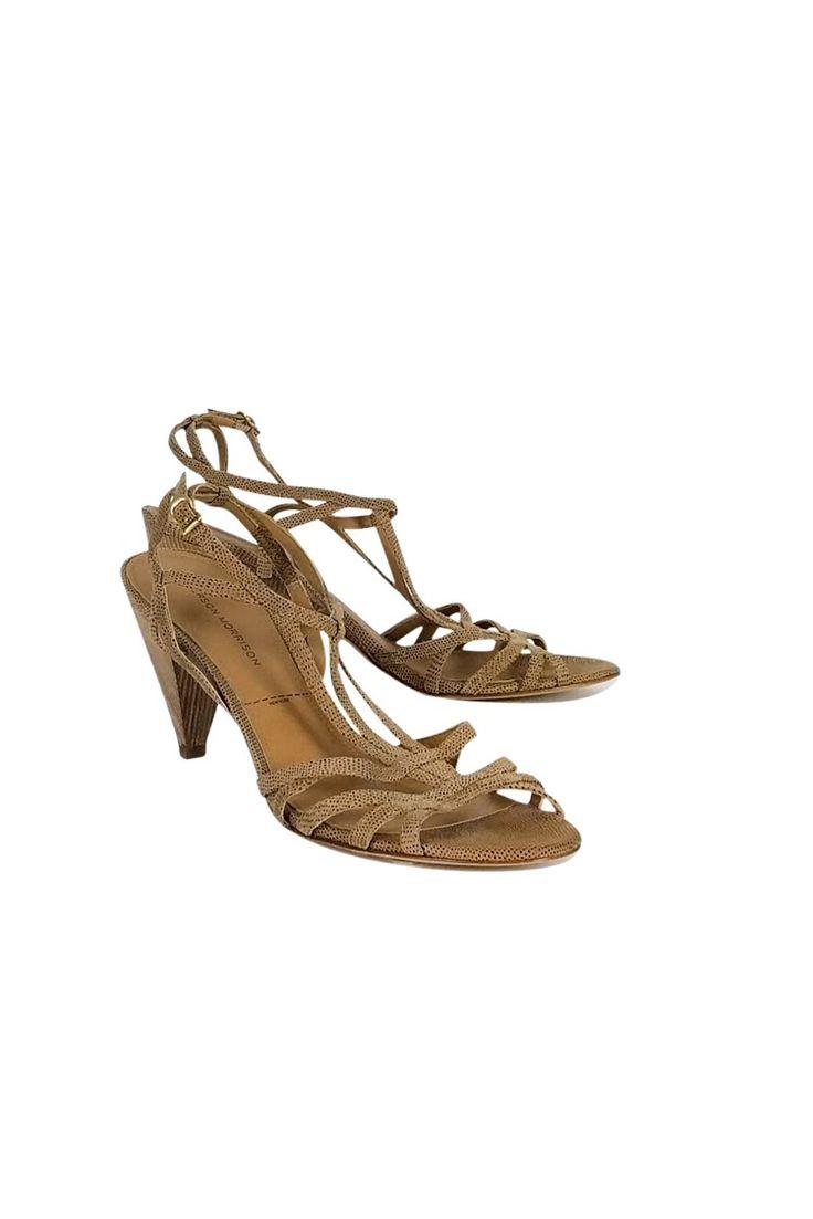 Sigerson Morrison- Beige Strappy Heels Sz 10 | Current Boutique