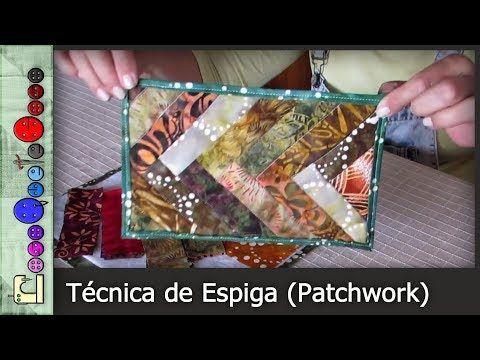 (172) Cómo hacer la Técnica de Espiga (Patchwork) [Tutorial] - YouTube