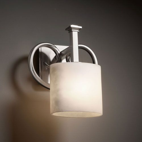 Clouds heritage brushed nickel wall sconce justice design group 1 light bathroom lighting