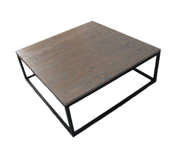 Table Basse Acier Et Bois Gris Industrielle Loft Design Line Coffee Table Home Decor Furniture