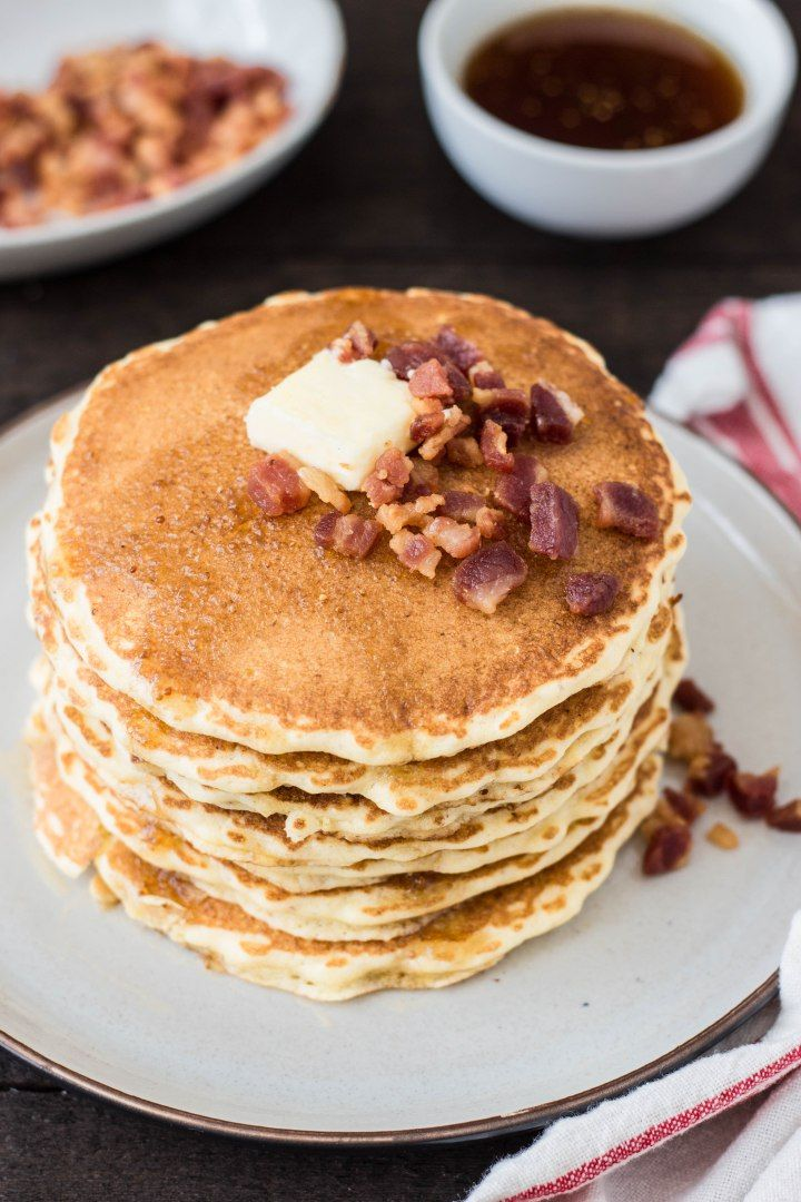 Cornmeal Pancakes with Pancetta & Fig-Maple Syrup | Cornmeal Pancakes ...
