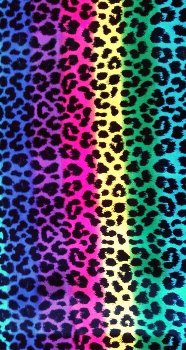Colorful leopard Zebra & Lepord Pinterest Leopards