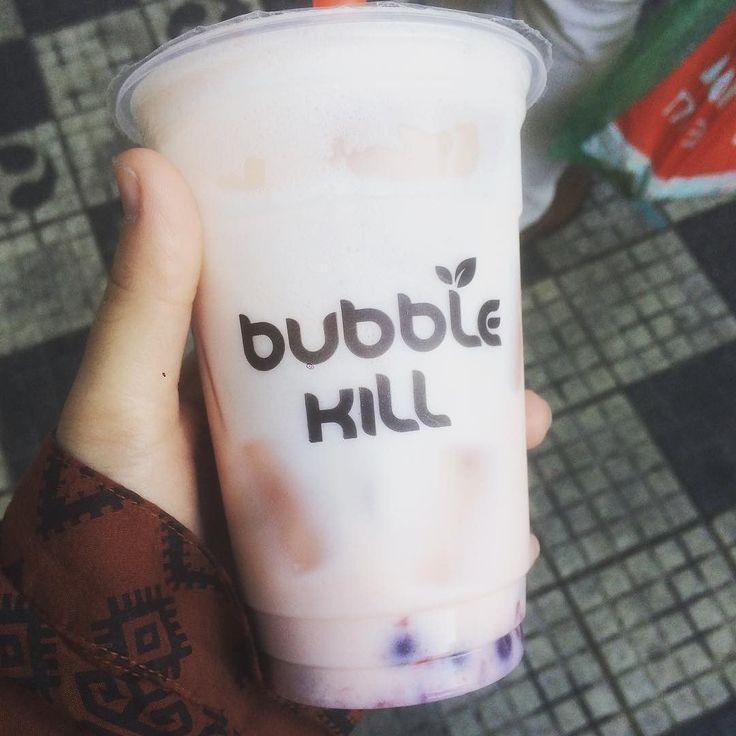 #Repost @alicebbp2 Finally got to try some bubble tea! - Finalmente experimentei um pouco de 'bubble tea'! #bubbletea #bubblekill