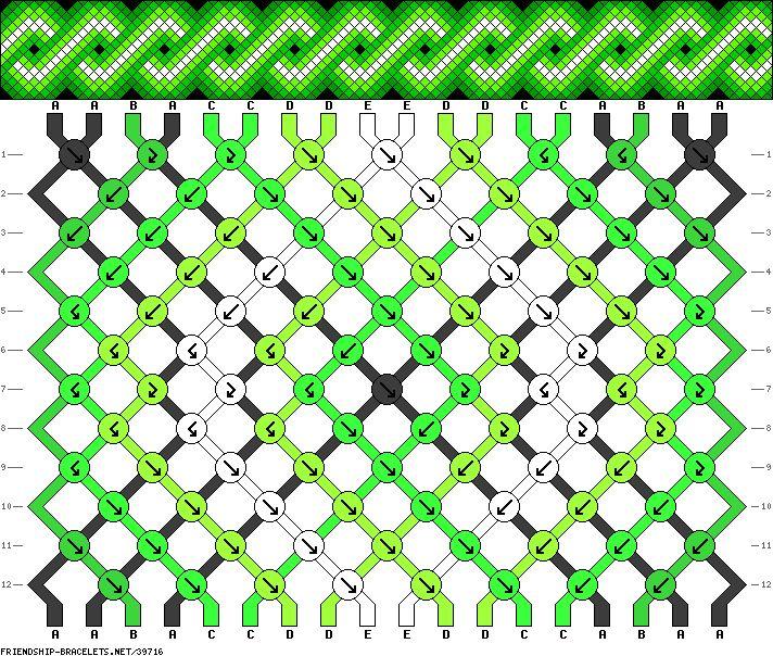 Muster # 39716, Streicher: 18 Zeilen: 12 Farben: 5