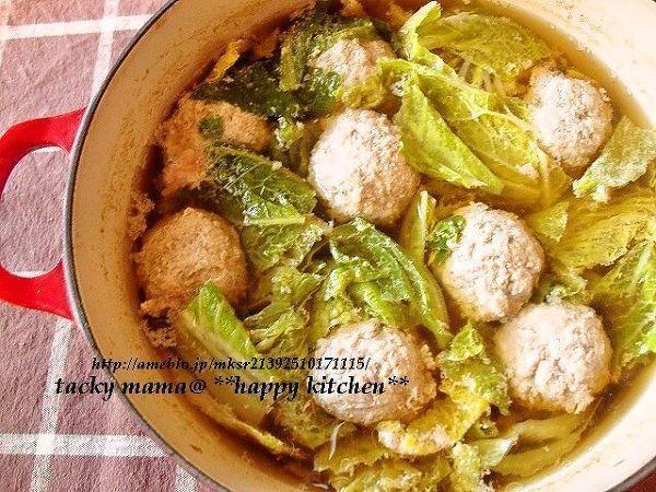 白菜たっぷり♪生姜風味のあったか肉団子鍋 by たっきーママ   レシピ ...