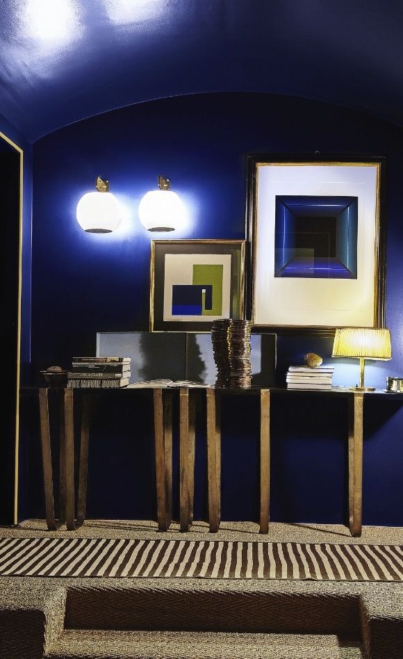 Milan, Italy apartment by Dimore StudioTown and Country, April 2015. Mostly I like the color.