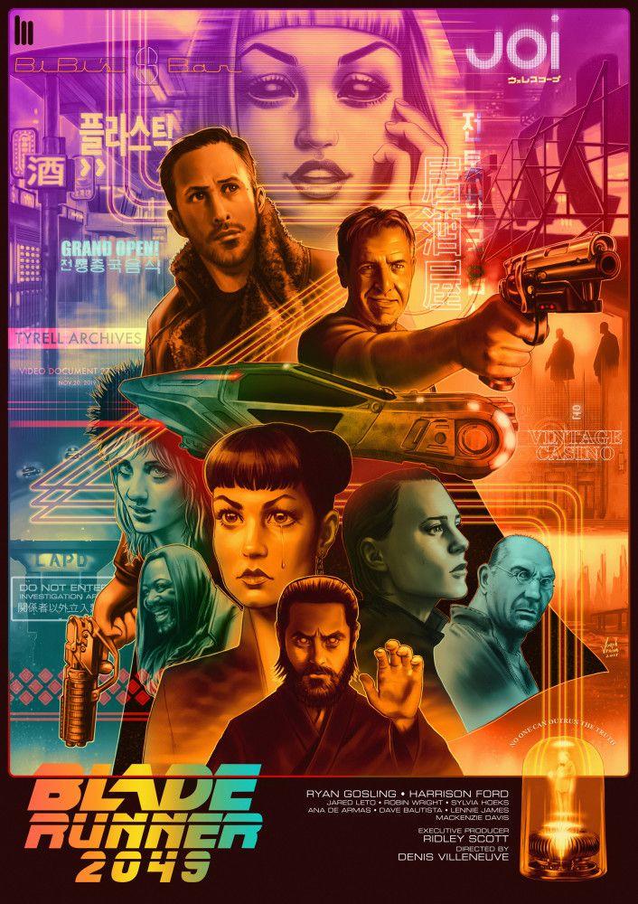 Blade Runner 2049 Retro Futuristic Poster Blade Runner Blade Runner Art Blade Runner 2049