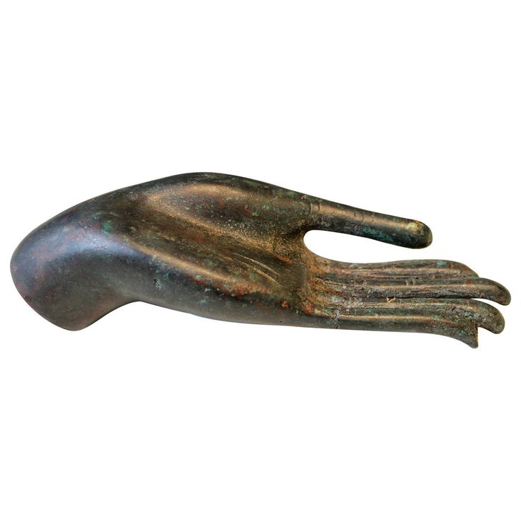 Bronze Asian Sculpture of a Buddha Hand, 19th Century or Earlier