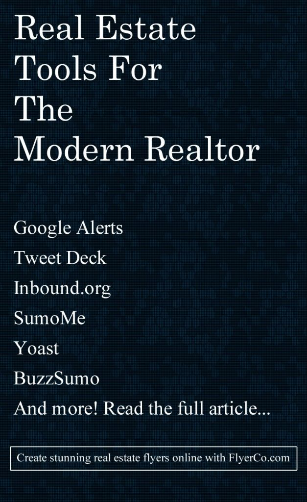 Real estate tools for the modern Realtor  by https://flyerco.com - Create stunning real estate flyers online #realestate #realtor