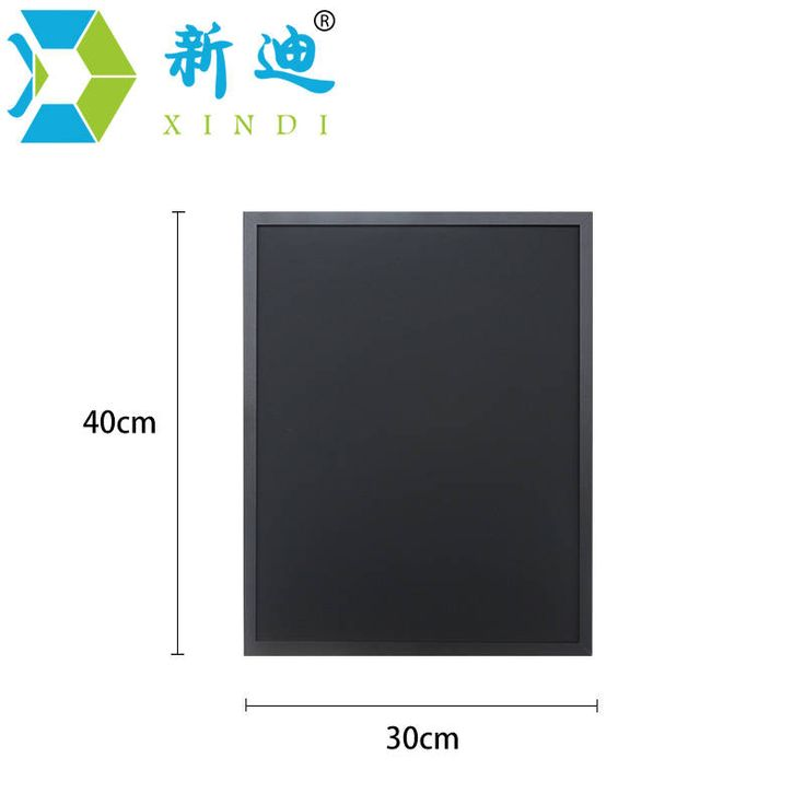 XINDI 2016 New 5 Colors MDF Frame Magnetic Wooden Blackboard 30*40cm Home Decorative Message Chalk Board  For Notes