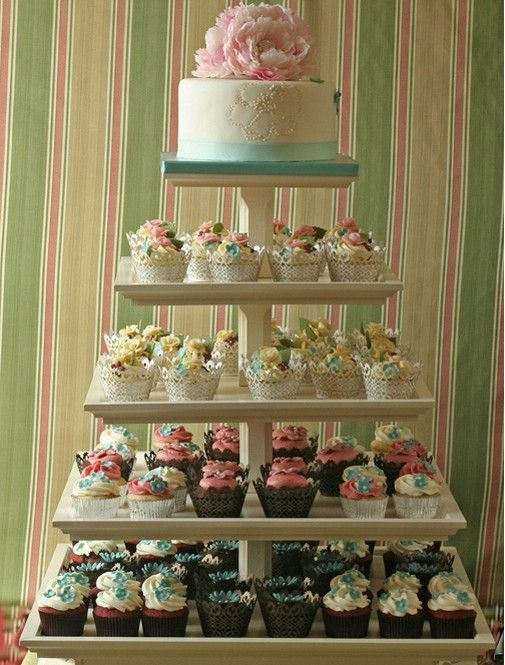 Cup cake wedding cake.. Gut zu transportieren