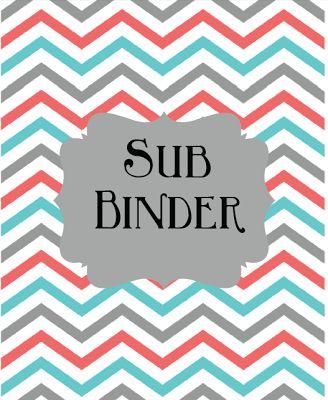 Editable Sub Binder-FREE