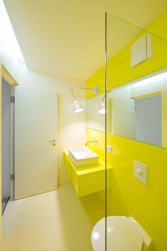 Schön Gelb. Zitronengelb. #KOLORAT #Farbe #Wandfarbe #Gelb #Streichdochmal  #Wohnideen