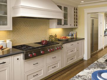 Traditional Kitchen By Mascheroni Construction Maybe A Herringbone Pattern Detail In Shower With Aqua Gl Subway Tile