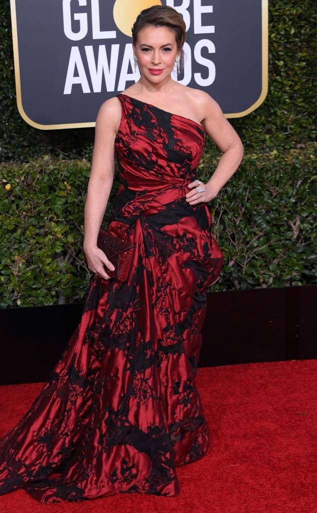 Alyssa Milano From 2019 Golden Globes Red Carpet Fashion Alyssa