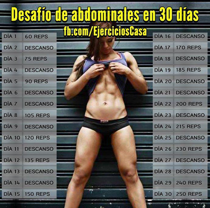 PROGRAMA RETO ABDOMINALES 30 DIAS
