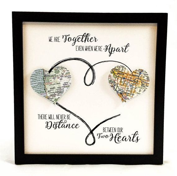 Personalized Going Away Gift Long Distance by BloomingDoorDecor