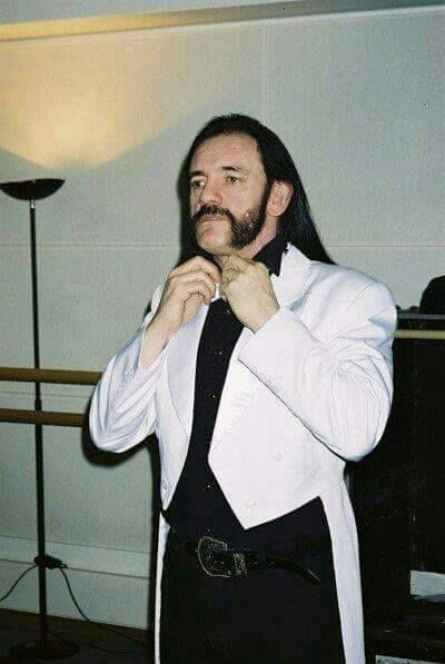 """Lemmy Kilmister- """"Yeah, it's a white tailcoat. And?"""""""