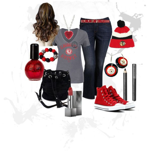 """Chicago Blackhawks Game Day"" by slavetothecorps on Polyvore"