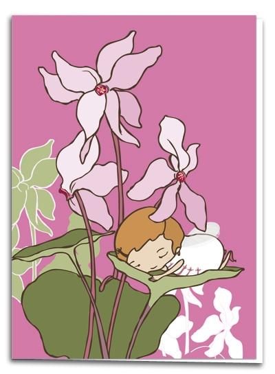 Cyclamen - illustration by Terese Bast  #cyclamen #pink #flowers #sweet #teresebast
