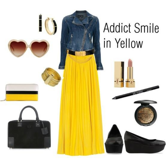 yellowFemale Fashion, Style Nice, Yellow Jeans, Fashion, Skirts, Outfit Agosto, Jackets Combinations, Mejores Outfit