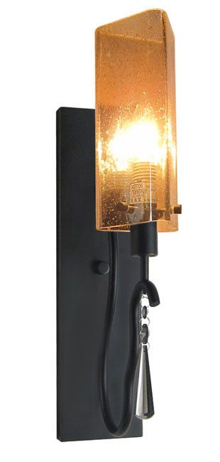 Woodbridge Lighting 14241BLK Haley 1-light transitional Wall Sconce
