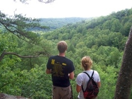 Go for a hike! The 87-acre Conkle's Hollow State Nature Preserve features 200-foot sandstone cliffs and some up-high vistas of southeast Ohio. It is near Hocking Hills State Park. (Bob Downing/Akron Beacon Journal)