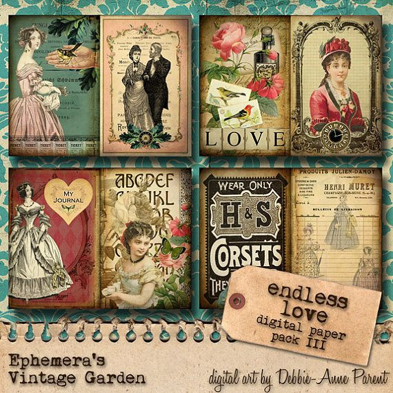 Druckbare Journal Kit 'Endless Love'  Paper von EphemerasGarden