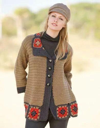 Saco de mujer a crochet