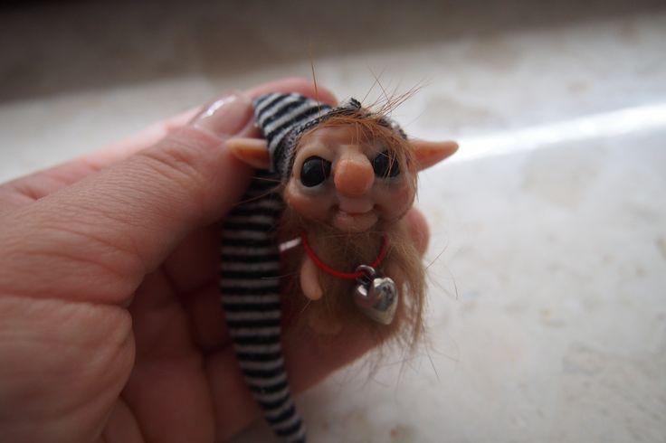 OOAK fantasy art doll mini troll gnome FELEK 2 by muyestillo