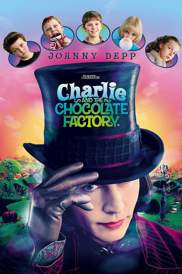 """Charlie and the Chocolate Factory"" (2005) *Family/Comedy by Roald Dahl (directed by Tim Burton)-- starring Johnny Depp, Freddie Highmore, and David Kelly"