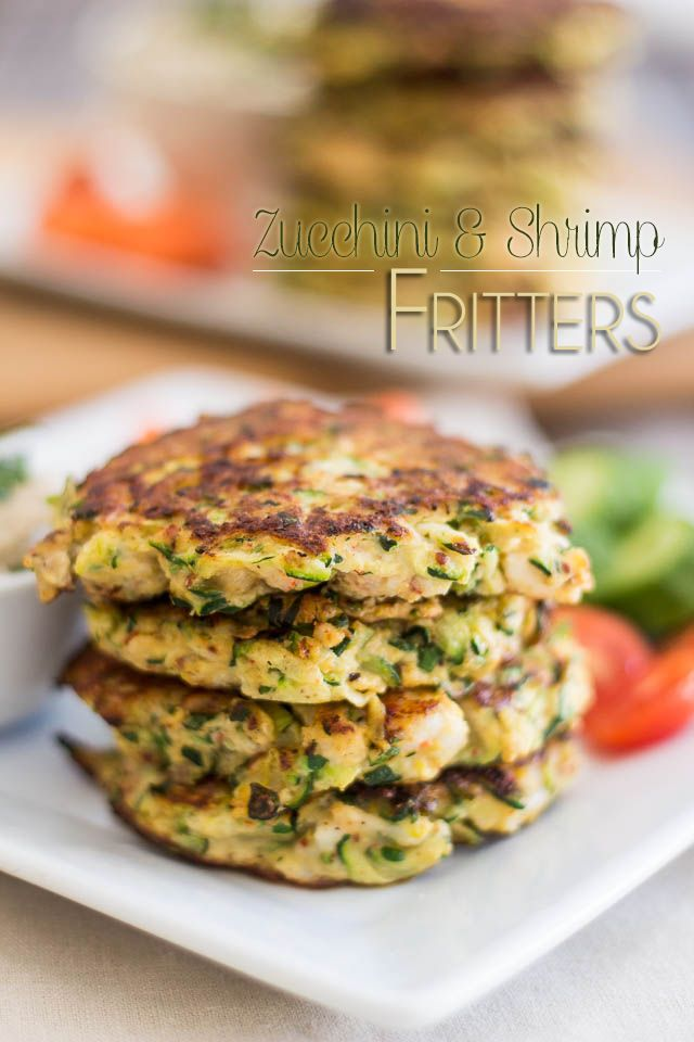 Paleo Zucchini & Shrimp Fritters   The Healthy Foodie