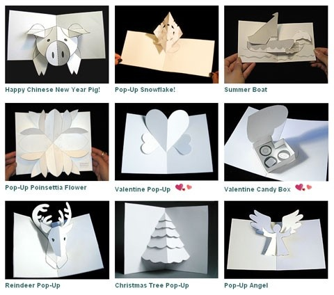 Simple pop-up how-tos ~ Robert Sabuda. The grandkid will love these.