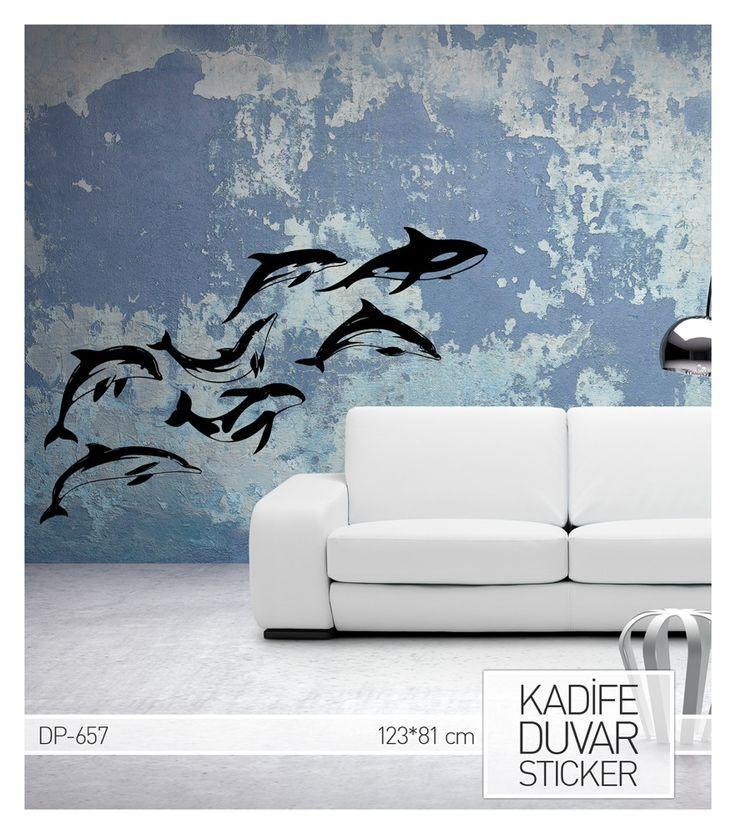 Yunuslar Kadife Duvar Stickeri.  Ürüne ulaşabileceğiniz adres : http://www.artikeldeko.com.tr/dp-657-kadife-duvar-sticker-123x81-7-cm-939  #dekor #dekorasyon #dekoratif #artikeldeko #evdekorasyonu #sticker #duvarsticker #dekorasyonfikirleri #yunus #yunuslar #balıklar