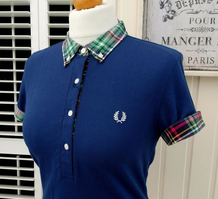 AMZING RARE FRED PERRY WOMEN'S MADRAS CHECK TRIM PIQUE' POLO IN PACIFIC BLUE. MADRAS CHECK COLLAR & TRIM IN NAVY, GREEN, PINK, YELLOW & WHITE. UK 10/ EUR 38/ US 6. I will always try to resolve any issues quickly & fairly. | eBay!