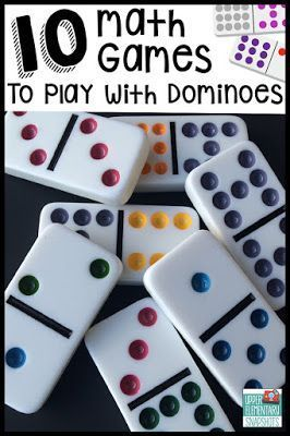 Math activities: FREE: Math Games with Dominoes. #adultmathactivities