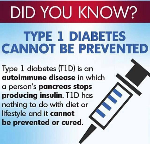 Type 1 diabetes can not be prevented Cured? not yet still hopeful