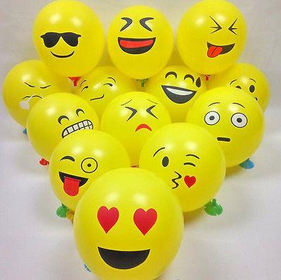 10/20/50Pcs Cute Emoji Face Balloons For Festival Birthday Party Xmas Decoration
