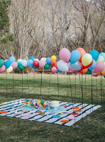 Ideias simples de decoração para festas informais ao ar livre ou em qualquer…