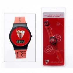 Reloj digital de pulsera del Sevilla FC. Precio: 5,39 €. Encuentra más #merchandising barato en nuestra tienda de Regalos Baratos y Originales.