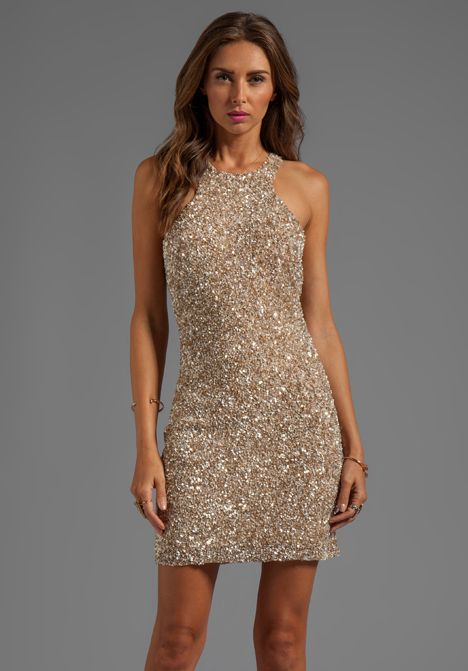 Parker Mariah Sequin Dress in Beige by: Parker @Adrienne Raptis Ly Clothing (Global)