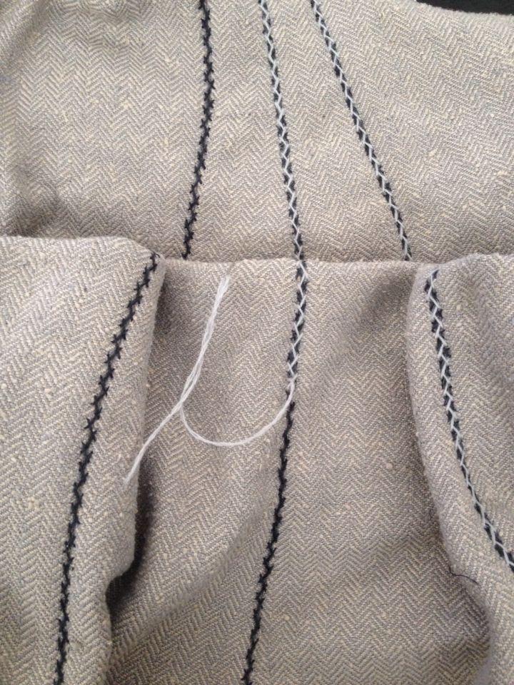 Double herringbone/seam stitch