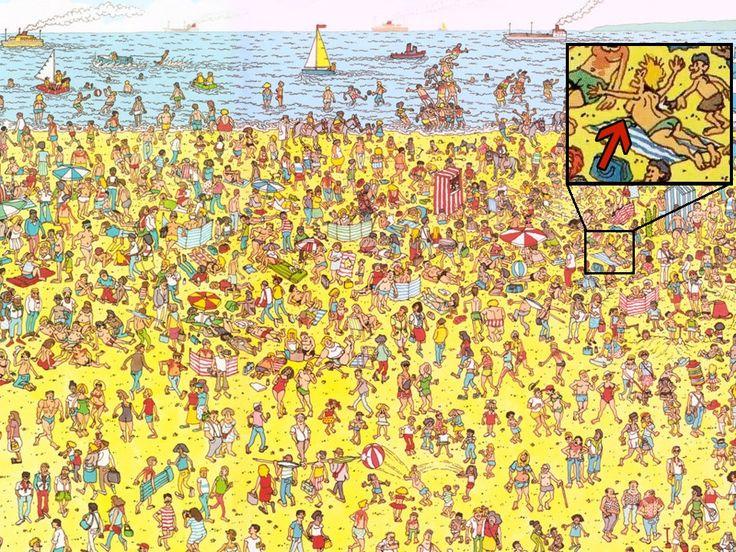 """La edición de 1987 del libro infantil """"¿Dónde está Wally?"""" fue censurada por numerosas bibliotecas estadounidenses. De hecho, figura en la posición n° 87 del ranking de censuras de la década de 1990 que publica la American Library Association.  ¿El motivo? Medio seno desnudo que aparece, no más grande que esta letra """"o"""", en la escena de la playa."""