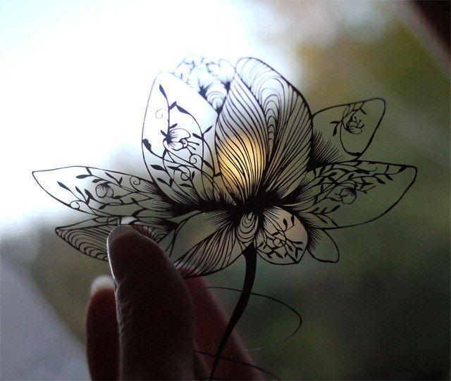 仕上げた切り絵 の画像|a lace KIRIE 蒼山日菜のブログ