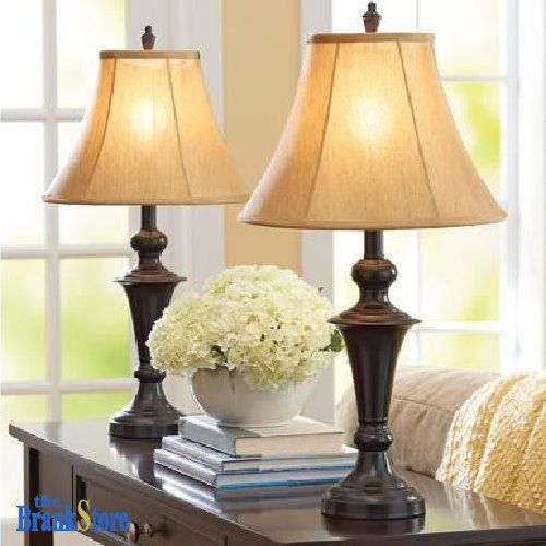 Best 25 traditional table lamps ideas on pinterest bedside traditional table lamp set 2 vintage desk lamps pair shades nightstand light aloadofball Images
