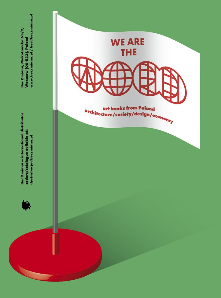 Poster for Bęc Zmiana Foundation at NY Art Book Fair 2013. jakubjezierski.com