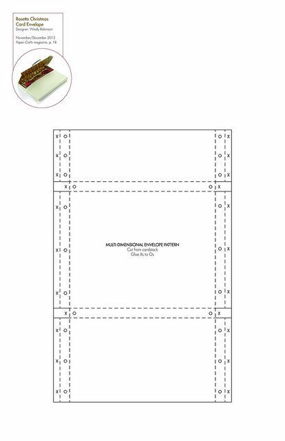 Dimensional envelope #free pattern/template #downloadable