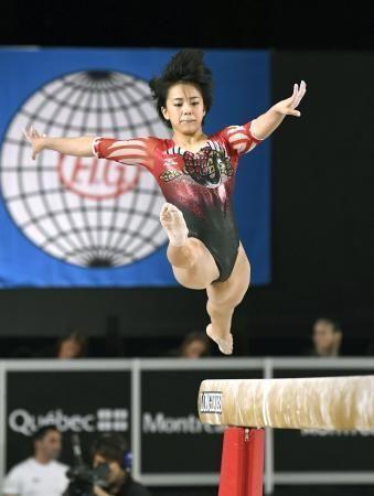 女子予選 村上茉愛の平均台=モントリオール(共同) #体操 #女子 #村上 #デイリースポーツ