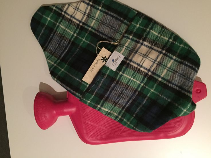 Cozy hot water bottle cover. Fits standard size hot water bottles. Made with a soft flannel fabric. Really soft and feels good to the touch. Machine wash and dry.